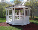 Gazebo Repaired & Painted